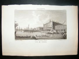 After Canaletto C1810 Antique Print. Vue de Venise